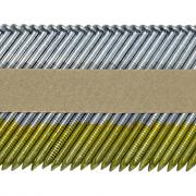 Реечные гвозди 34 градуса 3.05x70 мм ершеные гальванизированные / 3000шт // ТехМаш