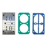 Набор: пластина с клапанами 2840050 + прокладки 2850300 и 2850400 к B2800/B3800 Abac