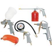 Набор пневмоинструмента, 5 предметов (к/р с верхним бачком) Fubag 120101