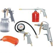 Набор пневмоинструмента, 5 предметов (к/р с нижним бачком) Fubag 120102