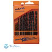 Набор из 13 спиральных сверл по металлу HSS Projahn 67005