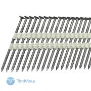 Реечные гвозди 21 градус 3.1x90 мм ершеные // ТехМаш / 2200шт