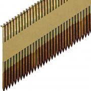 Реечные гвозди 34 градуса 3.05x90 мм гладкие гальванизированные /  3000шт // ТехМаш