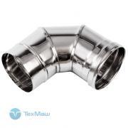 Колено дымохода 90° из нержавеющей стали (Ø150 мм) для теплогенераторов Ballu-Biemmedue