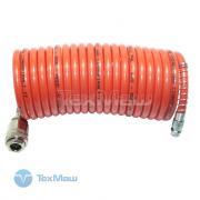 Шланг спиральный с фитингами, 6x8мм, 5м, полиамидный (рилсан) FUBAG [170200]