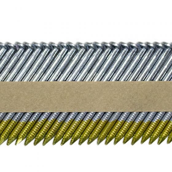 Реечные гвозди 34 градуса 2.87x50 мм ершеные гальванизированные / 3000 шт // ТехМаш