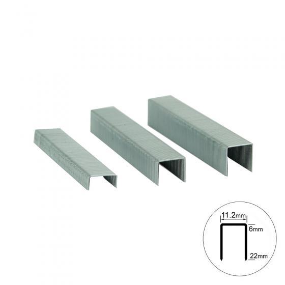 Скоба 20GA - 10 мм, шир. - 1,2 мм, тол. - 0,6 мм, шир. скобы - 11,2 мм, 5000 шт, MATRIX 57656 (20/10)