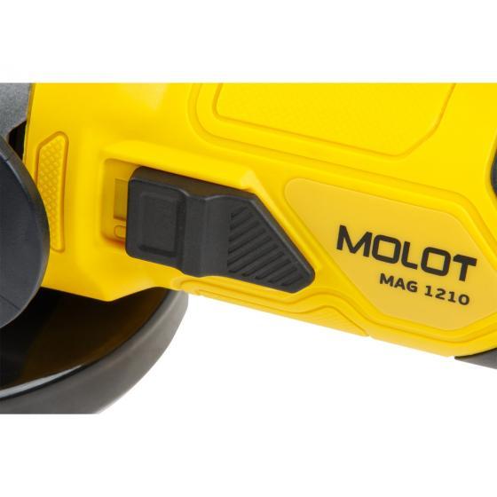 Одноручная углошлифмашина MOLOT MAG 1210 в кор. (1000 Вт, диск 125х22 мм) (MAG121000027)
