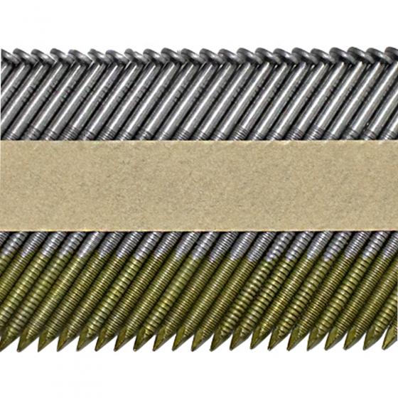 Реечные гвозди 34 градуса 3.05x70 мм ершеные / 3000шт // ТехМаш
