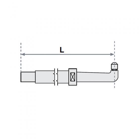 Нижнее плечо O 30 х 500мм прямое с уменьшенным электрододержателем для SG 8-12-18-25 Fubag [31173]