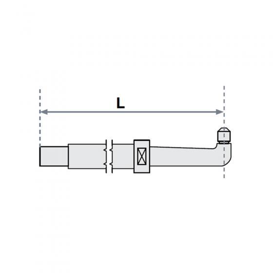 Нижнее плечо прямое O 22 х 125мм для серии SG 4-6 Fubag [38926]