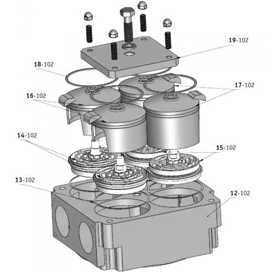 Крышка блока клапанного Bekomsan Esinti 19-102