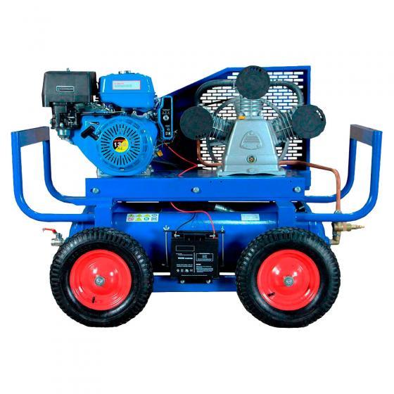 Передвижной компрессор Remeza СБ4/С-90.LB75.SPE390R с бензоприводом (ручной старт)