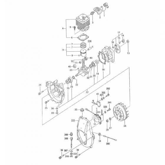 Корпус вентилятора в сборе/Fan Case Complete для Vessel GT-3500GE [845335]