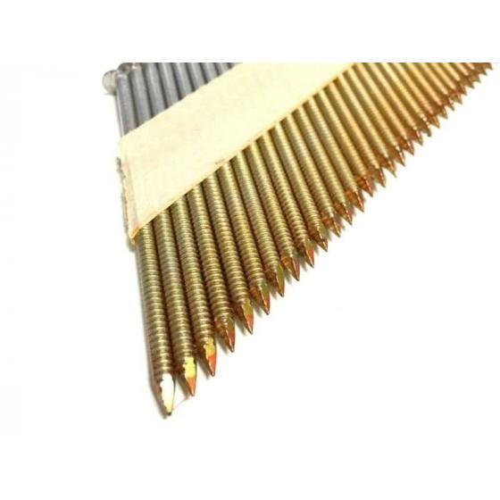 Реечные гвозди 34 градуса 2.8x75 мм с кольцевой накаткой // ТехМаш / 2000шт