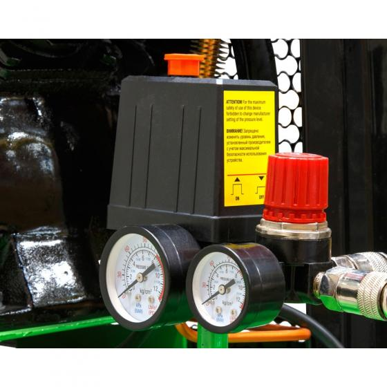 Компрессор ECO AE-705-B1 (380 л/мин, 8 атм, ременной, масляный, ресив. 70 л, 220 В, 2.20 кВт)