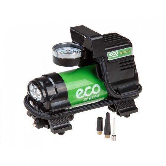 Компрессор автомобильный ECO AE-013-3 (35 л/мин, 10bar, 130Вт, 12В) (12В, 130Вт, 10bar, 35 л/мин, фонарь, сумка)