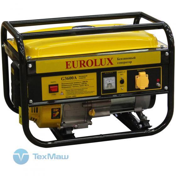 Электрогенератор бензиновый G3600A Eurolux