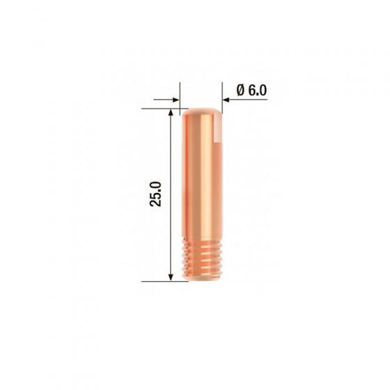 Контактный наконечник Fubag M6х25 мм ECU D=0.9 мм(25 шт.) [FB.CTM6.25-09]