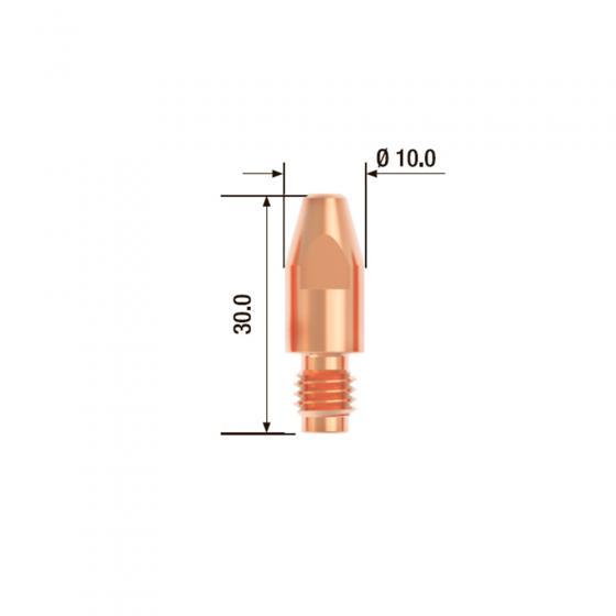 Контактный наконечник Fubag M8х30 мм ECU D=0.8 мм (25 шт.) [FB.CTM8.30-08]