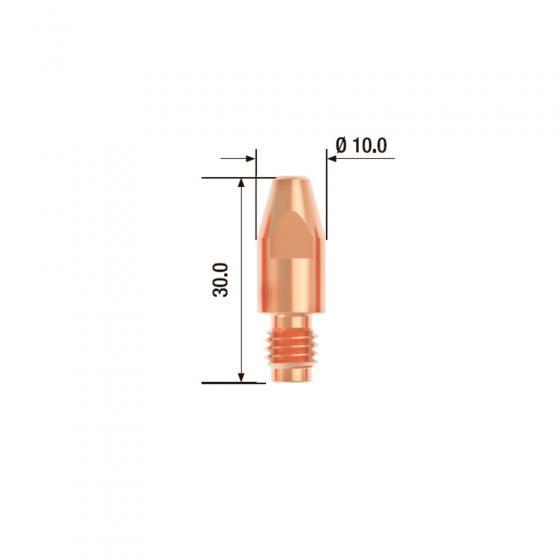 Контактный наконечник Fubag M8х30 мм ECU D=1.4 мм (25 шт.) [FB.CTM8.30-14]