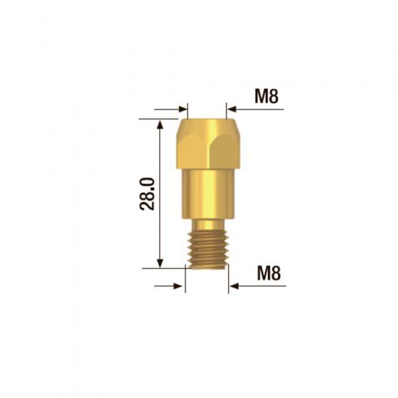 Адаптер контактного наконечника Fubag M8х28 мм (5 шт.) [FB.TA.M8.28]