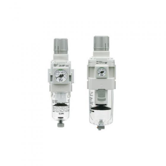 Фильтр-регулятор SMC AW G3/8 с ручным сливом [AW30-F03-B]