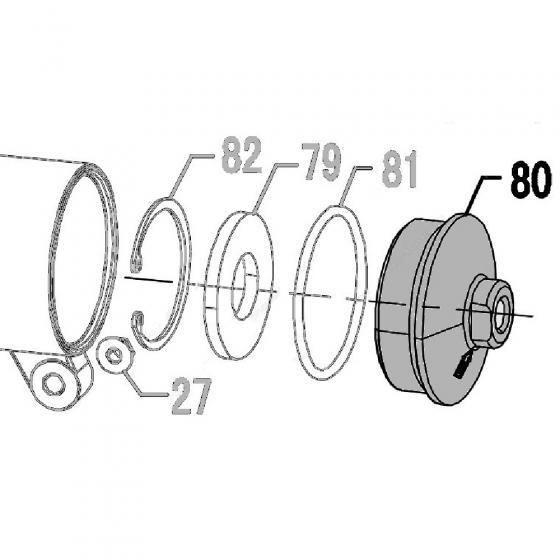 Запчасть 110030 Задняя крышка CN70R-75 CN80R-80 CN90R-80