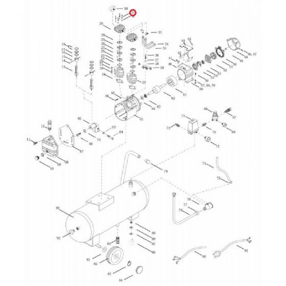 Болт с шестигранной головкой для VDC/50/100 CM3 [TD05031]