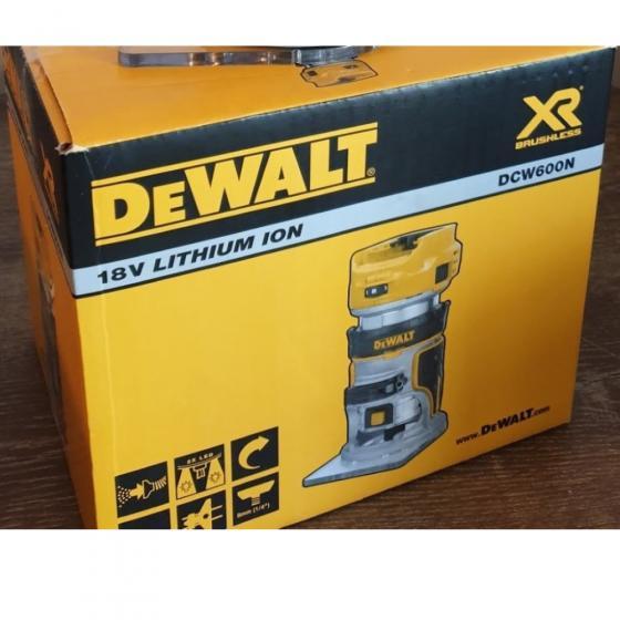 Аккумуляторный кромочный фрезер, 18В, без аккумулятора и ЗУ, DEWALT DCW600N