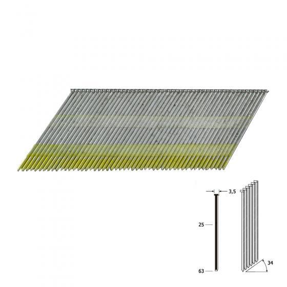 Отделочные гвозди 15Ga тип DA1532 мм (Rewon)