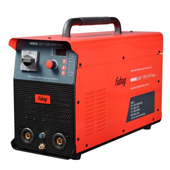 Сварочный полуавтомат FUBAG INMIG 500T DW SYN PULSE c подающим механизмом DRIVE INMIG DW SYN PULSE + горелка FB 500 3m + блок  охлаждения + тележка [31443.1]