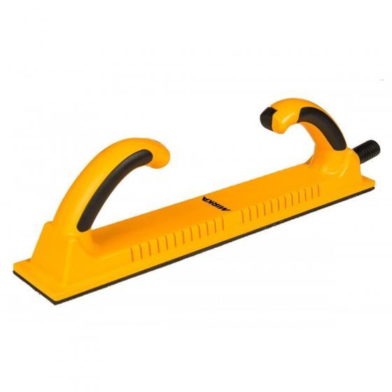 Ручной жёсткий шлифовальный блок Mirka 70х400 53 отв., жёлтый, на липучке [8391155111]