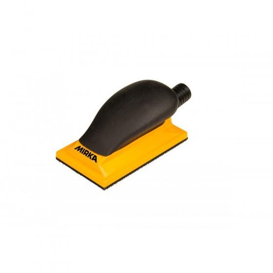 Ручной шлифовальный блок жёлтый с пылеотводом Mirka 70x125мм 13 отв. [8391400111]