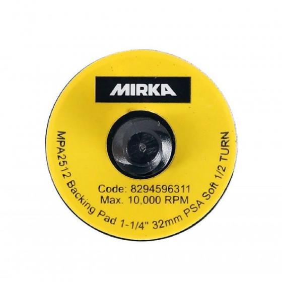 Шлифовальная подошва Mirka 32 мм без отв., мягкая, клей [8294596311]