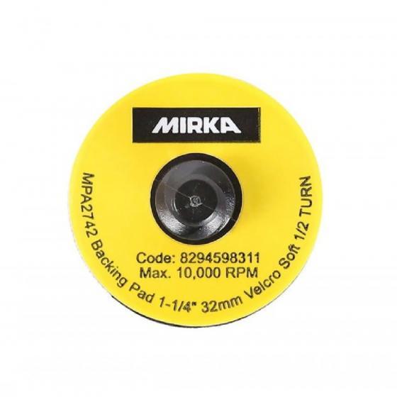 Шлифовальная подошва Mirka 32 мм QUICK LOCK липучка мягкая 10шт/уп [8294598311]