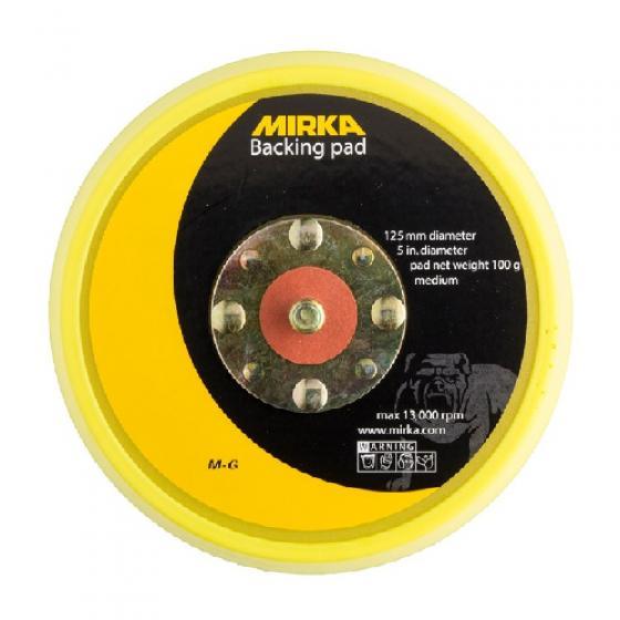 """Шлифовальная подошва Mirka 125 мм, без отв.,5/16"""" средней жесткости, липучка [8295191511]"""