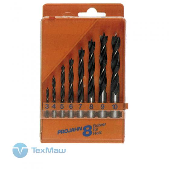 Набор из 8 сверл для мягкой древесины Projahn 67040