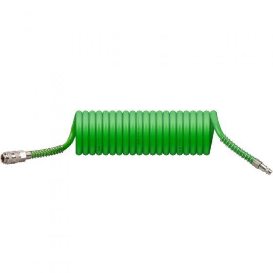 Шланг спиральный с быстросъемным соединением, 8/12мм, 5м, ECO, (AHU-0580)