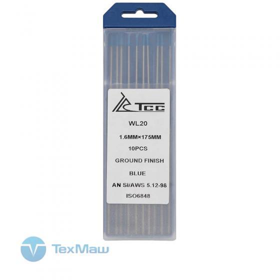 Вольфрамовый электрод ТСС синий WL20-175/1,6 (10 шт)