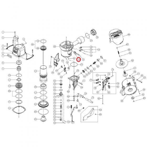 A0712-2341 Направляющая контактора (Yoshi CN‑100)