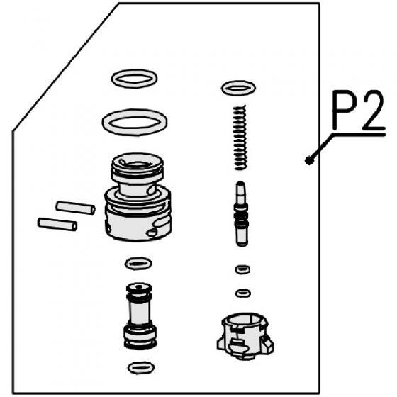 Запчасть T420091 Ремкомплект клапана курка в сборе