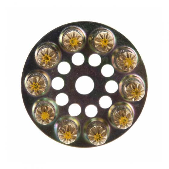 Патрон индустриальный 6,3х10 желтый F-DK3 (10шт в диске) / 100шт